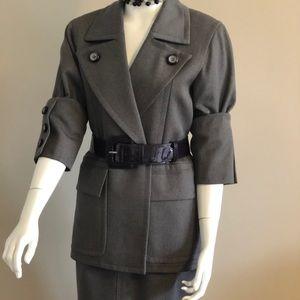 Vintage YSL Gray Suit rare 60s